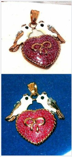 Two Turtle Doves Pendant with Austrian Crystal USA Seller Christmas in July #ebay http://stores.ebay.com/JEWELRY-AND-GIFTS-BY-ALICE-AND-ANN