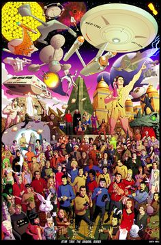 How many characters can you identify in this massive original Star Trek poster?