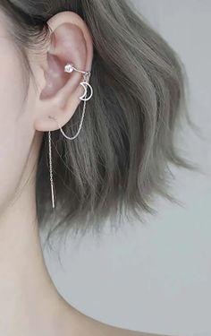 Kpop Earrings, Cuff Earrings, Cartilage Earrings, Unique Earrings, Statement Earrings, Cartilage Piercings, Pretty Ear Piercings, Ear Jewelry, Jewellery