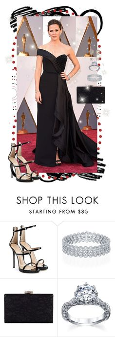 """Jennifer Garner at Oscars 2016"" by farrahdyna ❤ liked on Polyvore featuring Giuseppe Zanotti, Chesca, Dolce&Gabbana, GetTheLook, Oscars, jennifergarner, 2016 and omgthatdress"