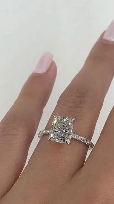 Radiant Engagement Rings, Cushion Cut Engagement Ring, Beautiful Engagement Rings, Vintage Engagement Rings, 3 Carat Engagement Ring, Vintage Rings, Beautiful Wedding Rings, Diamond Rings, Dream Ring