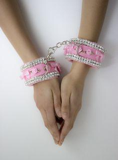 LUXE RHINESTONE WRIST CUFFS FLORA HARNESS (Purple/Black)   / www.babyvoodoo.com / sweater, jumper, lingerie, hoodie, grey, gray, pink, pale pink, hot pink, fuschia, baby doll, cute, girly, sexy kawaii, ddlg, baby, doll, kawaii, harajuku, pastel goth, goth, alternative, fashion, modern, vintage, retro, black, comfy, latex,  ageplay, bdsm, pet, play, leash, cute, handmade, collar, rose, nude, art, model, photography, tube socks, heart, vinyl, PVC, skirt, top
