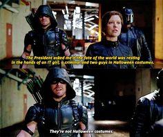 #Arrow #Lyla Michaels #Oliver Queen #John Diggle