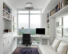 Nice Scandinavian Modern Condominium - contemporary - home office - toronto - Jill Gr. Scandinavian Modern Condominium - contemporary - home office - toronto - Jill Greaves Design via Dug Wilders - Small Space Office, Office Space Design, Condo Design, Small Room Design, Home Office Space, Home Office Decor, Small Spaces, House Design, Home Decor