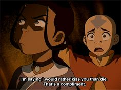 Aang and his flirting skills...