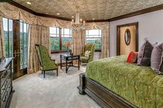 Master Bedroom | Stunning High Country English-Inspired Home and Horse Farm in Ligonier | Photo Credit: Finite Visual via Christie's International