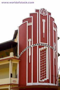 Stock Photo titled: Art Deco Building, Latin Quarter, Margao Or Madgaon, South Goa, India, unlicensed use prohibited