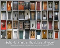 Group project - each student takes a photo of their door at home. Depends on many factors tho....