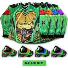 Victory Will Be Yours When You Wear Teenage Mutant Ninja Turtle Paintball Jerseys #TMNT #Neat
