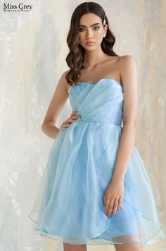 Get those powder blue vibes into your look! Corset, Wendy Dress, Strapless Dress Formal, Formal Dresses, Powder, Fashion, Blue, Dresses For Formal, Moda