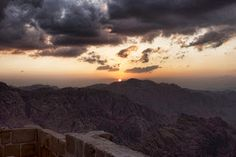 Sunset from Mt. Sinai. Worth the hike.