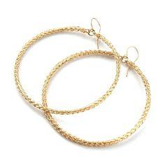 Hanging XL hoop earrings, close loops | YooLa