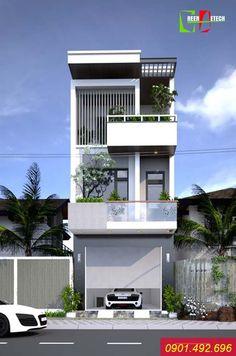 Thiết kế kết cấu nhà phố uy tín nhất – Công ty Cổ phần Xuất nhập khẩu và Kiến trúc GreenDetech Flat House Design, 3 Storey House Design, Narrow House Designs, Latest House Designs, Bungalow House Design, House Front Design, Modern House Design, Modern Townhouse, Townhouse Designs