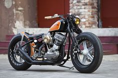 1951 Harley Panhead. It's amazing to me how current Harley models resemble the past.