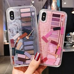 Makeup Eye shadow Quicksand Phone Case For iPhone X , iPhone 8 , iphone xs , iphone , iPhone 7 Iphone 7, Pretty Iphone Cases, Cute Phone Cases, Coque Iphone, Iphone Phone Cases, Phone Covers, Makeup Phone Case, Diy Phone Case, Diy Case