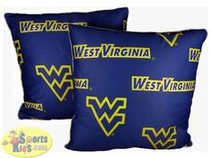 """College Covers West Virginia Mountaineers 16""""x16"""" Decorative Pillow (Set of 2)"""