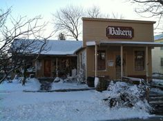 The Bishop Hill Bakery and Eatery, Bishop Hill IL.  Wonderful breads, sweets and lunches.  All homemade right there, right now, right good.