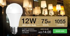 #VTAC A60 #LED #bulb creates an ambient atmosphere around your surroundings and uses 80% less energy than standard bulb.