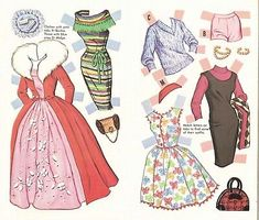 Picture 5 of 8 Paper Doll Costume, Paper Doll Craft, Barbie Paper Dolls, Paper Dolls Book, Barbie Skipper, Vintage Paper Dolls, Doll Crafts, Vintage Barbie, Paper Crafts