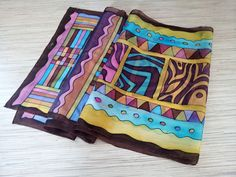 Silk scarf in tribal style