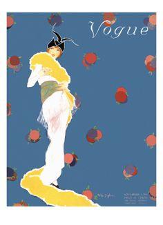 Vogue Cover - November 1913 Premium Giclee Print by Helen Dryden at Art.com