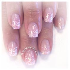 Young nails acrylic glitter fade