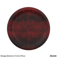 Paper Plates.  #grunge #gothic #abstract #zazzle #customize #customise