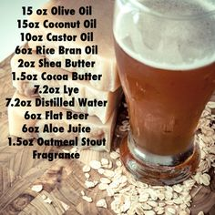 Ingredients for oatmeal Stout shampoo bars Beer Shampoo, Unscented Soap, Glycerin Soap, Beer Soap, Soap Bar, Soap Nuts, Homemade Soap Recipes, Lotion Bars, Cold Process Soap