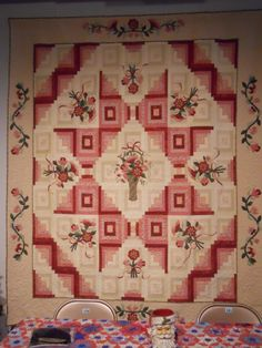 Common Threads Quilt Guild Raffle quilt. This is a lovely quilt for a young lady or little girl.