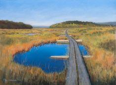 Siikaneva Bog, soft pastel painting on sanded paper 30 x 40 cm by Olli Malmivaara