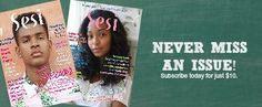 Gift Subscription Order Form – Sesi Magazine Online | teenage black girls | black teens | black girl magic
