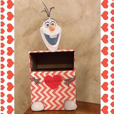 DIY Olaf-Themed Valentine's Day Mailbox