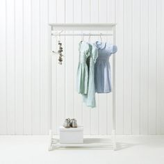 Simple A sweet childrens clothes rail in white painted wood This simple clothes rail is perfect