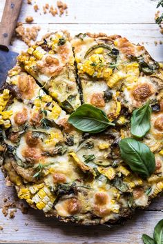Cheesy Zucchini and Corn Pie | halfbakedharvest.com #zucchini #corn #summerrecipes #eggs #brie