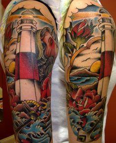 Kris Magnotti, Tattoo Artist - Lighthouse Tattoo, Koi Tattoo, Dragon Tattoo