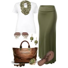 Basic - Plus Size, created by kerimcd on Polyvore. Love this olive green!