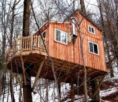 Love this fancy Tree House project in upper NY!