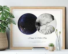 Personalized Father's Day Gift from Daughter Dad Gift   Etsy Top Mother's Day Gifts, Gifts For Dad, Mother Day Gifts, Valentines For Mom, Valentine Day Gifts, Love Photo Collage, Personalized Fathers Day Gifts, Sky Images, Handprint Art