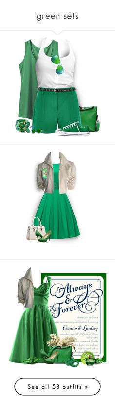 """""""green sets"""" by tinkertot ❤ liked on Polyvore featuring Trilogy, adidas, Converse, River Island, Pori, Yves Saint Laurent, Simplify, YSL RIVE GAUCHE, Relaxfeel and Nine West"""