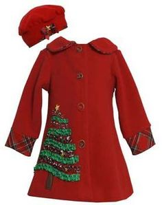 Holiday Christmas Tree Coat12 Months to 6XNow in Stock