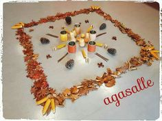 La Muestra Autumn Activities, Activities For Kids, Baby Sensory Play, Baby Learning, Reggio Emilia, Land Art, Mandala, Diy Crafts, Education