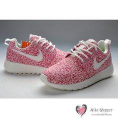 4be573ee98f Nike Roshe Run Womens Sail Pink White Shoes New Nike Shoes