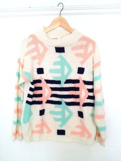 This vintage sweater is cool!