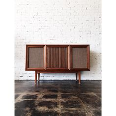 Gorgeous record console made by Drexel Declaration with a Motorola stereo  system and record player.