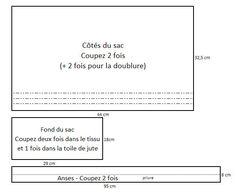 TUTORIEL: Sac cabas en toile et pailettes