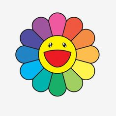 Murakami Flower Vector Vector and PNG Murakami Flower, Rainbow Flowers, Aesthetic Indie, Watercolor Invitations, Hippie Art, Star Flower, Aesthetic Stickers, Flower Backgrounds, Indie Kids