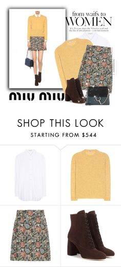 """""""miu miu"""" by betty-hs ❤ liked on Polyvore featuring Miu Miu, Yves Saint Laurent and Chloé"""