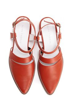 01feace3c8 Coral Leather Shoes, Women's Sandals, Red Pumps, Red Leather Shoes, Ziggy  // Free Shipping