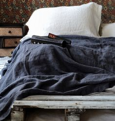 House of Baltic Linen - Charcoal Rough Stonewashed Linen Bed cover/Coverlet, $190.00 (http://www.houseofbalticlinen.com/charcoal-rough-stonewashed-linen-bed-cover-coverlet/)