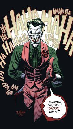 Joker by GeorgeSellas on DeviantArt Joker Cartoon, Joker Dc Comics, Joker Comic, Joker Art, Comic Art, Comic Book Characters, Comic Character, 3 Jokers, Gotham Villains
